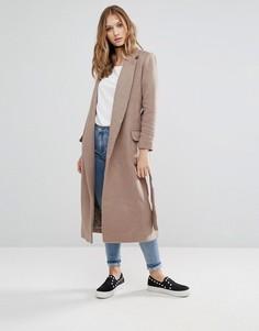 Пальто с поясом Glamorous - Коричневый