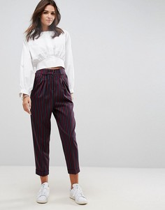 Широкие брюки с разноцветными полосками ASOS Tailored Mansy - Мульти