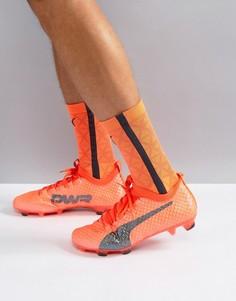 Оранжевые футбольные бутсы для игры на твердой поверхности Puma evoPOWER Vigor 3D 1 10399903 - Оранжевый