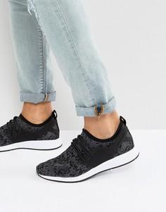 Черные трикотажные кроссовки с камуфляжным принтом Cayler & Sons - Черный