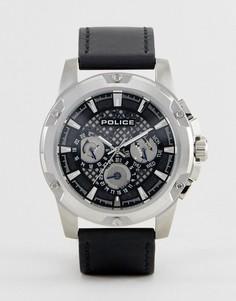 Черные часы с многофункциональным циферблатом Police - Черный
