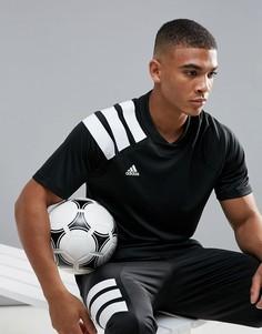 Черная футболка с принтом в стиле 90-х adidas Football Training CD1084 - Черный