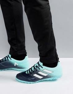 Синие футбольные бутсы adidas Ace 17.4 Astro Turf S77114 - Синий