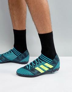 Темно-синие футбольные кроссовки для игры на газоне adidas Nemeziz Tango 17.3 Astro BY2463 - Темно-синий