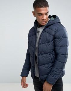 Стеганая куртка с капюшоном Jack & Jones - Темно-синий