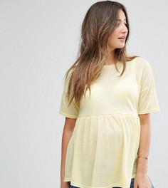 Топ с баской New Look Maternity - Желтый