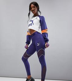 Спортивные леггинсы с сетчатыми вставками Puma эксклюзивно для ASOS - Темно-синий
