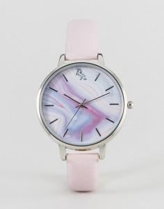 Часы с мраморным принтом и единорогом ASOS - Розовый