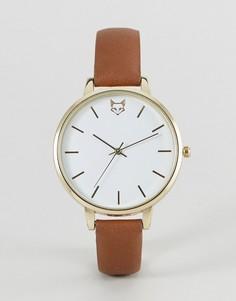 Часы со светло-коричневым ремешком и лисицей ASOS - Рыжий