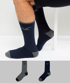 Набор из 2 пар носков темно-синего и серого цвета Hollister - Мульти