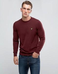 Бордовый джемпер с добавлением мериносовой шерсти Lyle & Scott - Красный