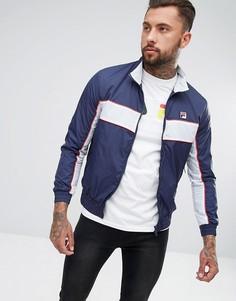 Спортивная куртка с логотипом на спине Fila Vintage - Темно-синий