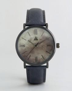Серые часы в мраморном стиле ASOS - Серый