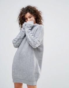 Платье-джемпер крупной вязки Lasula - Серый