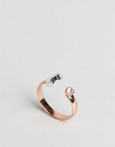 Кольцо с месяцем и камнем Johnny Loves Rosie Halloween - Золотой