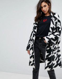 Черно-белое пальто-кардиган Diesel - Мульти
