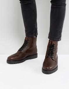 Коричневые кожаные ботинки Fred Perry Northgate - Коричневый