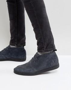 Темно-серые замшевые кроссовки Fred Perry - Серый