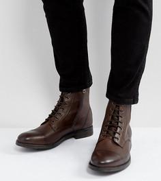 Кожаные ботинки на шнуровке Diesel Kallien - Коричневый