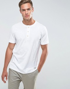 Белая узкая футболка хенли Abercrombie & Fitch - Белый