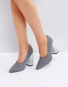 Туфли на высоком каблуке ASOS WHITE PEONY - Серый