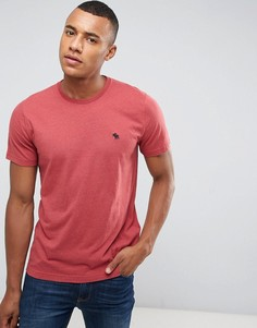 Красная узкая футболка с круглым вырезом Abercrombie & Fitch - Красный