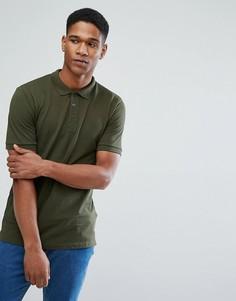Зауженная футболка-поло Only & Sons - Зеленый