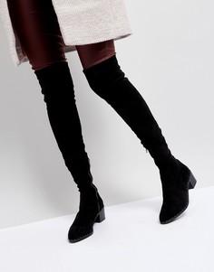 Черные ботфорты с заклепками Sol Sana Bianca - Черный