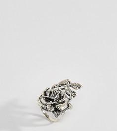 Серебряное кольцо с цветочным дизайном Rock N Rose - Серебряный