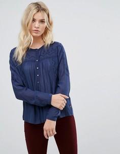 Блузка с вышивкой Pepe Jeans - Синий