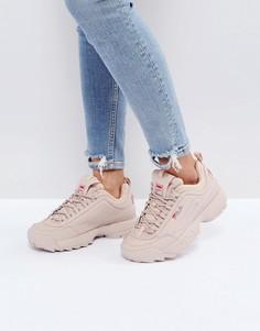 Телесные низкие кроссовки Fila Disruptor - Бежевый