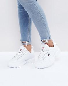 Белые низкие кроссовки Fila Disruptor - Белый