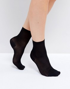 Носки в рубчик Monki - Черный