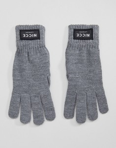 Серые перчатки Nicce London - Серый