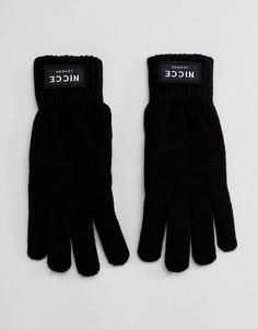 Черные перчатки Nicce London - Черный