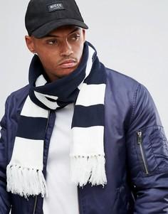 Темно-синий шарф с большим логотипом Nicce London - Темно-синий