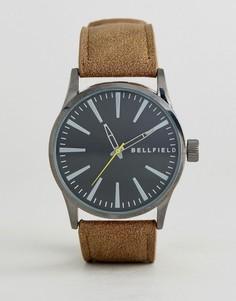 Светло-коричневые часы с черным циферблатом Bellfield Vintage - Рыжий
