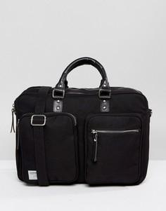 Черная сумка для ноутбука Sandqvist Arne Cordura - Черный