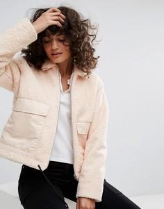Свободная куртка из искусственного меха Dr Denim - Розовый