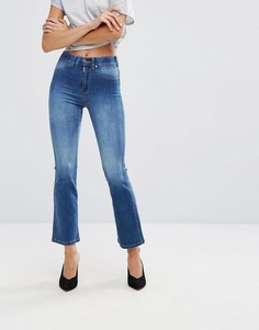 Укороченные джинсы клеш с классической талией Dr Denim - Синий