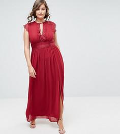 Платье макси с кружевной отделкой TFNC Plus WEDDING - Красный