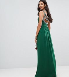 Декорированное платье макси TFNC Tall WEDDING - Зеленый