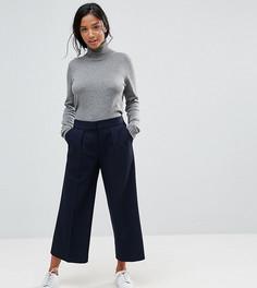 Укороченные брюки с заниженной талией ASOS PETITE - Темно-синий