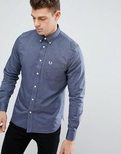 Темно-синяя оксфордская рубашка с карманом Fred Perry - Темно-синий