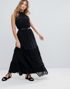 Кружевное платье с завязками Deby Debo Lucienne - Черный