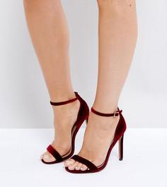 Сандалии на каблуке для широкой стопы ASOS HANG TIME - Красный