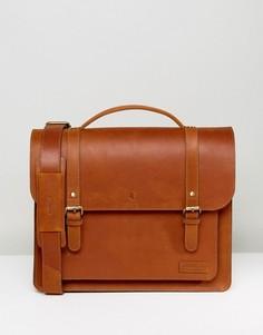 Кожаная сумка сатчел Forbes & Lewis - Коричневый