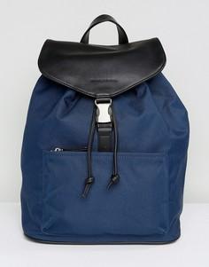 Рюкзак из нейлона и кожи Smith And Canova - Синий