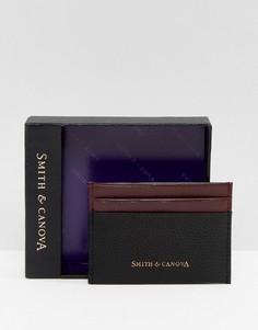 Черная кожаная кредитница Smith And Canova - Черный