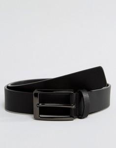 Черный кожаный ремень Smith And Canova - Черный